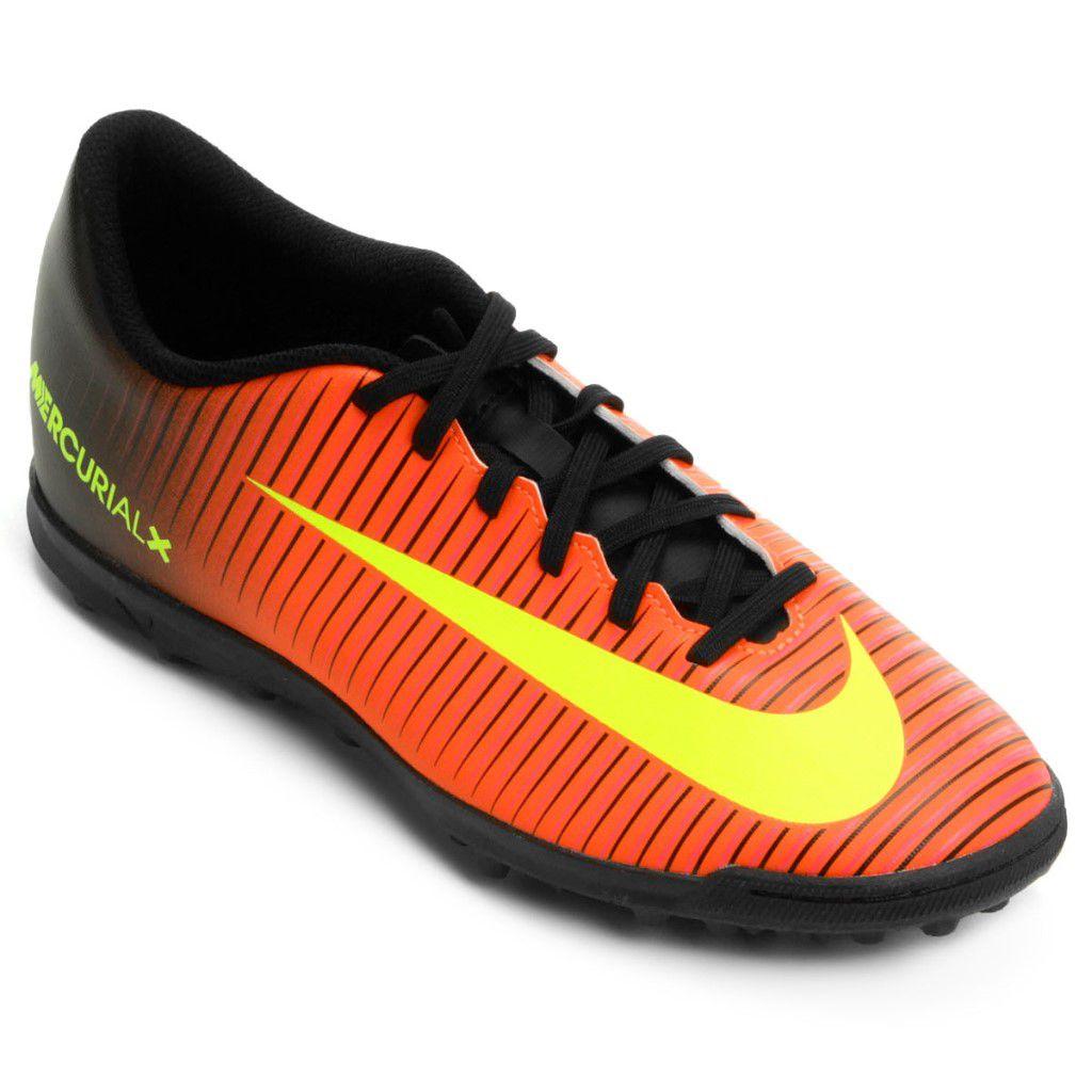 Chuteira Society Nike Mercurial Vortex III TF Masculina 6c232cec8a185