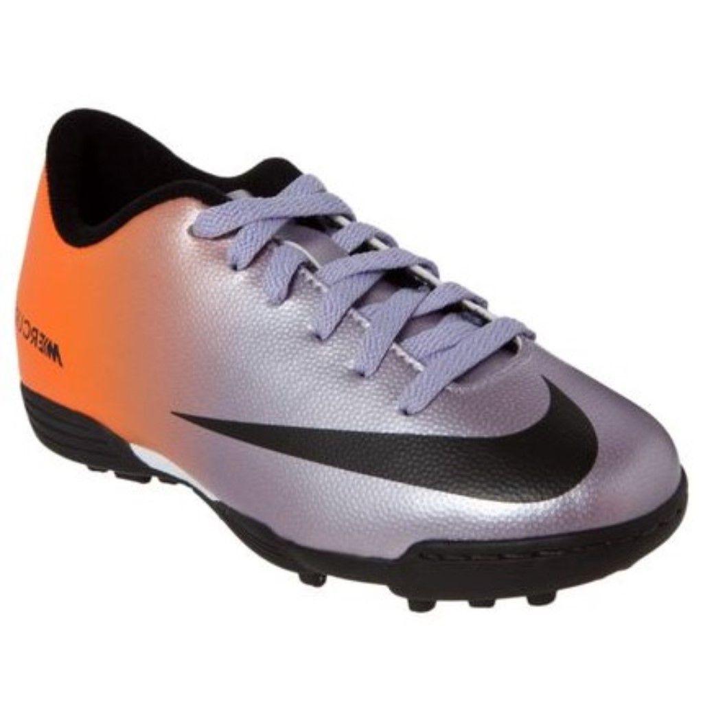 8732e1d7e8 Chuteira Society Nike Mercurial Vortex TF Juvenil Menino