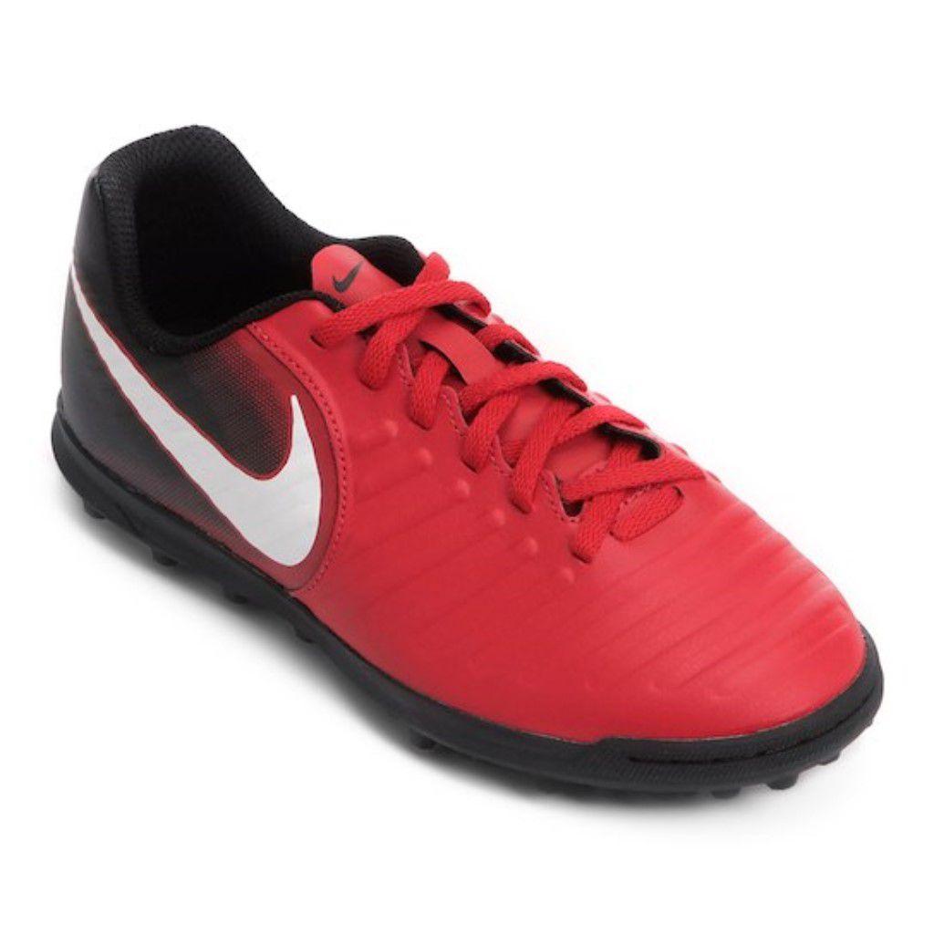 Chuteira Society Nike Tiempo Rio 4 TF Infantil Menino 24035b5efce02