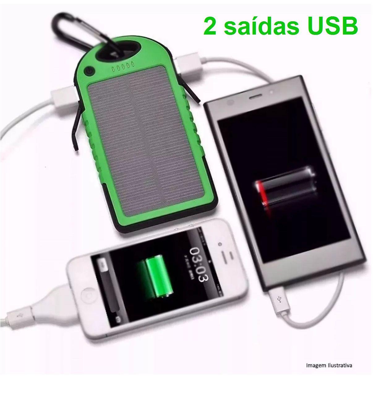 73325775379 Powerbank Carregador Celular Solar Portátil Prova D`água