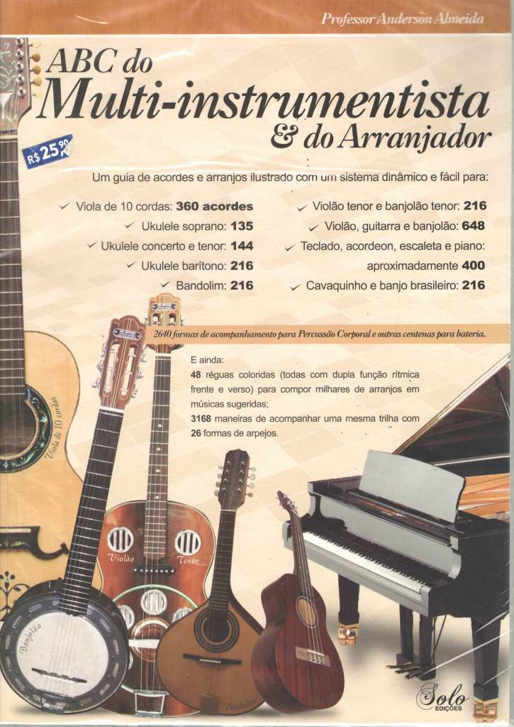 ABC do Multi-instrumentista e do Arranjador - Editora Solo