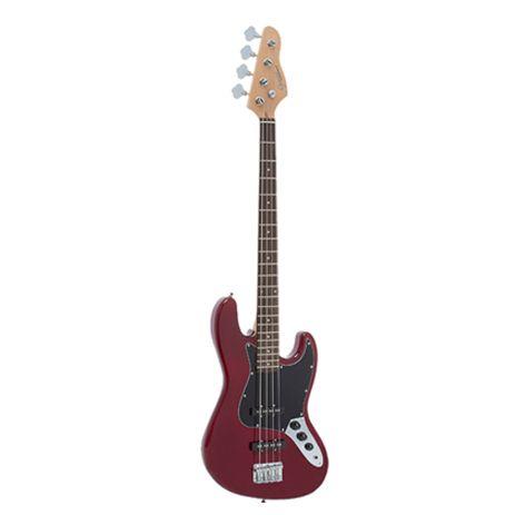 Baixo Giannini 4 Cordas Jazz Bass GB-1 SONIC-X Vermelho/Preto