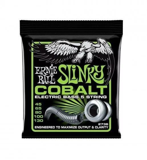 Encordoamento Ernie Ball 2736 Baixo 5C Slinky Cobalt .45