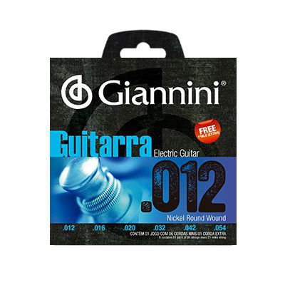 Encordoamento Giannini Guitarra GEEGST12 0.12