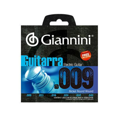Encordoamento Giannini Guitarra GEEGST9 0.09