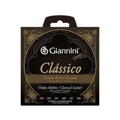 Encordoamento Giannini Violão GENWXPA Nylon Extra Pesada