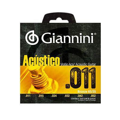 Encordoamento Giannini Violão GESPW Aço 0.11