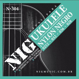 Encordoamento NIG Ukulele Nylon Negro