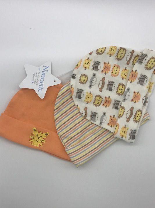 3dd73b18e Kit com 3 Touquinhas 0-3 meses Importado - Mamy e Kids
