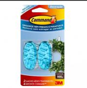 Gancho Command Transparente Azul - 3M