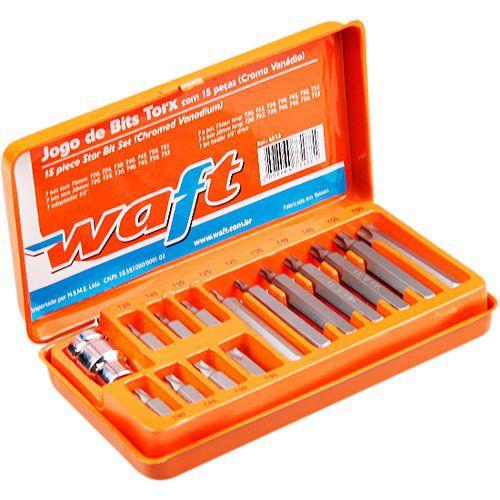 Jogo Bits Torx T20 a T55 com Adap. 15 peças  - Tambory Online