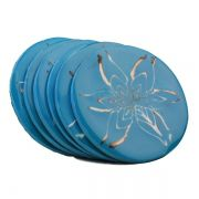 Porta Copos Flores (Azul)