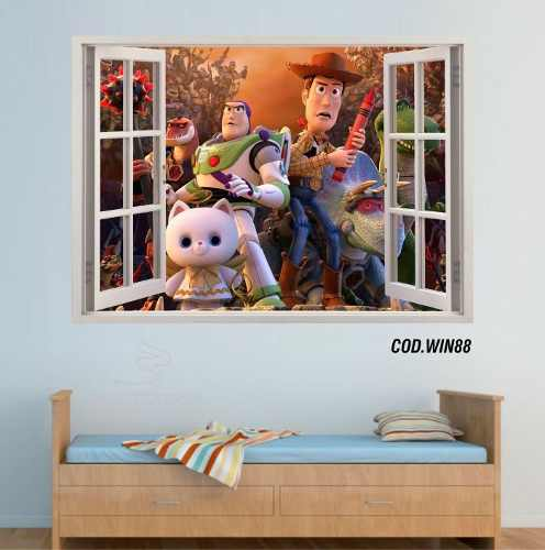 Adesivo Parede Janela 3D Toy Story mod02