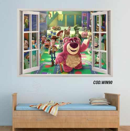 Adesivo Parede Janela 3D Toy Story mod05