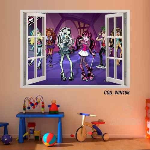 Adesivo Parede Janela 3D Monster High Boo York mod02