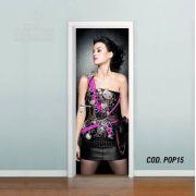 Adesivo De Porta Katy Perry mod03