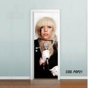 Adesivo De Porta Lady Gaga mod03