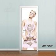 Adesivo De Porta Miley Cyrus mod01