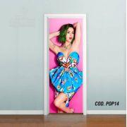 Adesivo De Porta Katy Perry mod02