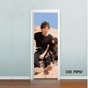 Adesivo De Porta One Direction Louis mod03