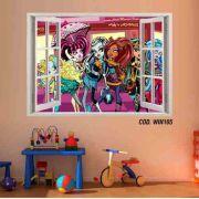 Adesivo Parede Janela 3D Monster High Boo York mod01