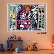 Adesivo Parede Janela 3D Monster High Boo York mod03