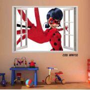 Adesivo Parede Janela 3D Miraculous Ladybug mod01