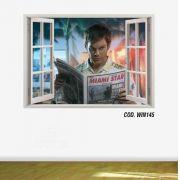 Adesivo Parede Janela 3D Dexter Morgan mod01