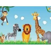 Painel Lona Safari Zoo Animais mod02