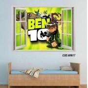 Adesivo Parede Janela 3D Ben 10 mod04