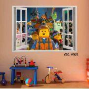 Adesivo Parede Janela 3D Uma Aventura Lego #04