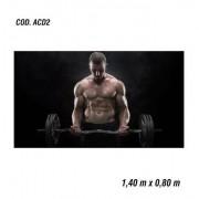 Adesivo De Parede Academia Fitness Musculação mod02