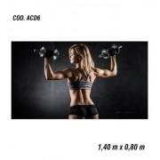 Adesivo De Parede Academia Fitness Musculação mod06