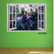 Adesivo Parede Janela 3D Vingadores Avengers #02