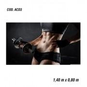 Adesivo De Parede Academia Fitness Musculação mod03