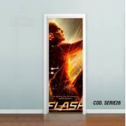 Adesivo De Porta The Flash Barry Allen mod03