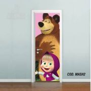 Adesivo De Porta Masha E O Urso mod02