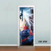 Adesivo De Porta Homem Aranha Spider Man mod02