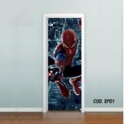 Adesivo De Porta Homem Aranha Spider Man mod01
