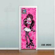 Adesivo De Porta Monster High mod03