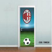 Adesivo De Porta Futebol Acm Milan