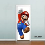 Adesivo De Porta Super Mario Bross #01