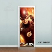 Adesivo De Porta The Flash Barry Allen mod01