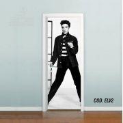 Adesivo De Porta Elvis Presley - Rei Rock mod02
