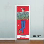 Adesivo De Porta Onde Está O Wally #01