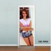Adesivo De Porta Lana Del Rey mod01
