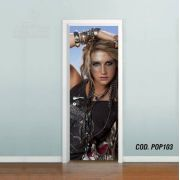 Adesivo De Porta Kesha Rose mod05