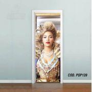 Adesivo De Porta Beyoncé Knowles mod02