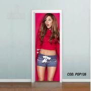 Adesivo De Porta Ariana Grande mod02