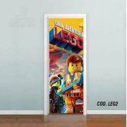Adesivo De Porta Uma Aventura Lego mod02